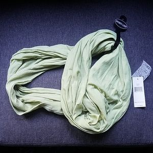 NWT Pale Lime Green Infinity Scarf